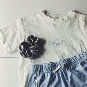 Pacsun Angel Cropped tee